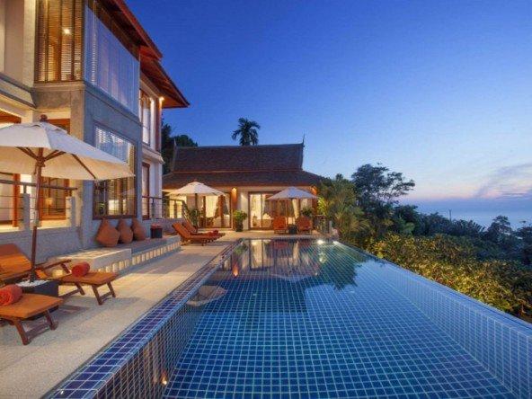 Thai Pavilion Style Villa Overlooking Surin Beach -5169 288