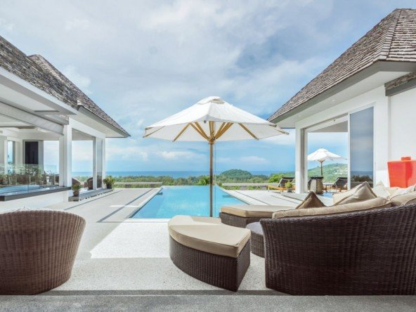 Stunning Ocean View Villa Layan Beach -5123 130